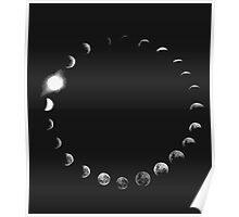 Moon Phases. Poster