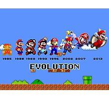 The Evolution of Mario Photographic Print