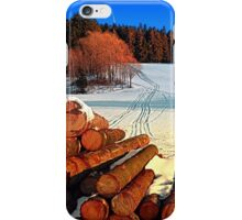 Timber in winter wonderland | landscape photography iPhone Case/Skin