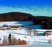 Winter wonderland scenery on a sunny afternoon | landscape photography by Patrick Jobst