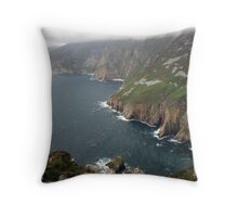 Slieve League cliffs Throw Pillow