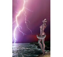 Pink Lightning - Rose and Geoff Collabe Photographic Print