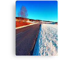 Country road on a winter afternoon | landscape photography Canvas Print