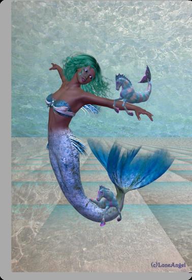 Playtime .. a joyful mermaid by LoneAngel