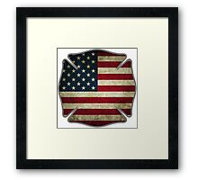 American Firefighter Framed Print