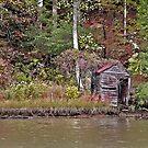 Fishing Shack by Eileen McVey