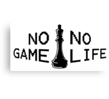No Game; No Life Canvas Print