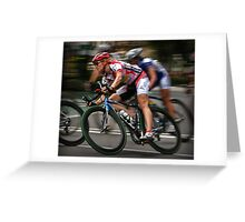 Fast Through The Pain Barrier Greeting Card