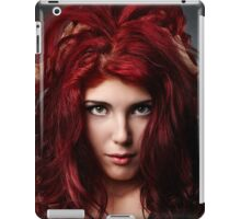 Glamour close-up of sexy redhead young woman iPad Case/Skin