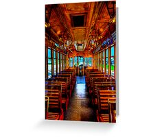 Trolley Car 432B Interior in HDR Greeting Card