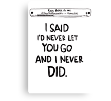 Have Faith In Me - A Day To Remenber Canvas Print