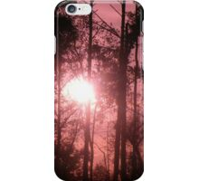 Pink Sunset in the Trees II iPhone Case/Skin