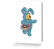 Winnie the Pooh as the Easter Bunny Greeting Card