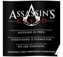 The Assassin's Oath (white text) Poster
