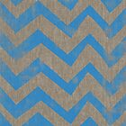 blue chevron on linen by vinpez