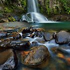 Waiau Falls Rocks by Ken Wright