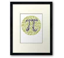 Not So Colorblind Pi Framed Print