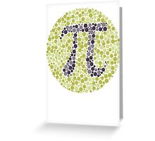 Not So Colorblind Pi Greeting Card