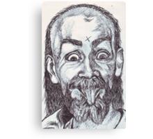 Charlie Manson Drawing Canvas Print