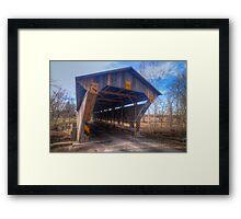 Chambers Road Covered Bridge Framed Print
