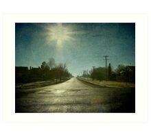 Morning Town, Maitland Street, Uralla, New South Wales Art Print