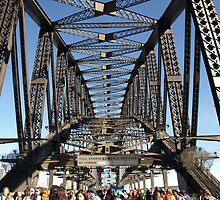 Sydney Harbour Bridge - World Youth Day Pilgrim Walk by Robyn Smith