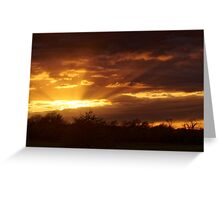 Dramatic Skies at Dusk Over South London, England Greeting Card