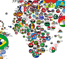 Polandball Countryball World Map | Countryballs Meme Sticker