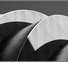 Kauffman Center Black and White Curves and Shadows by Catherine Sherman