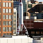 TWA Moonliner II Rocket by Catherine Sherman