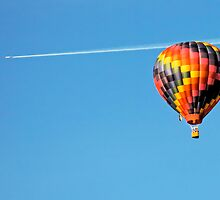 Jet Plane with Baloon by Todd Ward
