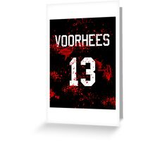Jason Voorhees Jersey Greeting Card