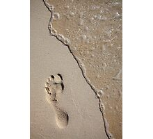 Footprint on the Beach Photographic Print