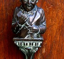 Bing Crosby Look-alike Door Knocker - Venice by Marilyn Harris