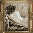Black Butterfly (in vintage frame) by Alice McMahon