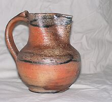wood fired jug with slip decoration by fatman