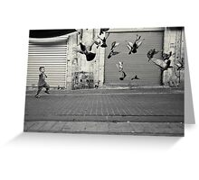 happy runner Greeting Card