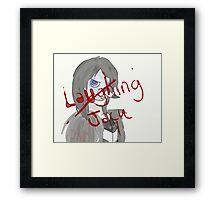 Laughing Jack Framed Print