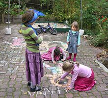 Backyard artists  by observer11