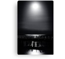 Full Moon Over Bramble Bay Canvas Print