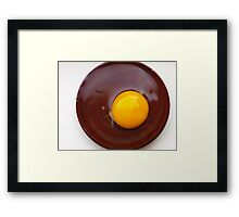 fried chocolate egg:) Framed Print