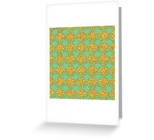 20's Glitter Glam, Gold and Mint Deco Pattern Greeting Card