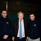 Boris Johnson At Millwall football club by Keith Larby