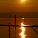 Sunset Dock by Deborah  Benoit