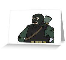balaclava Carl Greeting Card