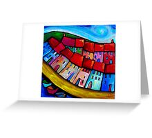 HOUSES ON THE HILLSIDE - CINQUE TERRE - ITALY. Greeting Card
