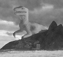 Dinosaur attacking Rio de Janeiro by funkyworm