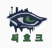 Seahawks Eye in Korean - 씨 호크 (SSH-000009) by EngDesigns