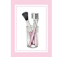 Makeup Brushes Photographic Print