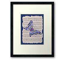 Dancing Butterfly_1_blue Framed Print